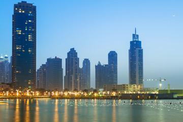 Downtown of Dubai at dusk, UAE