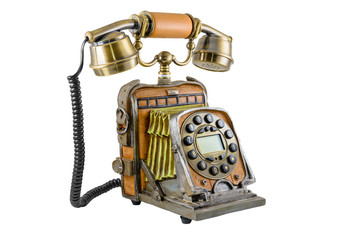 The telephone in style of a retro