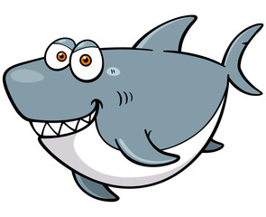 Vector illustration of Cartoon Shark