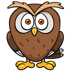Vector illustration of Cartoon owl