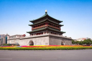 Wall Murals Xian Bell tower in Xian