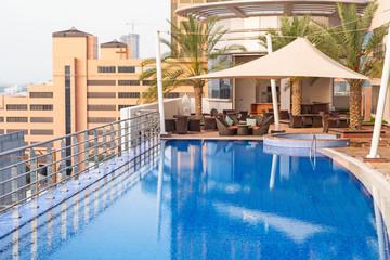 Small swimming pool in Dubai city