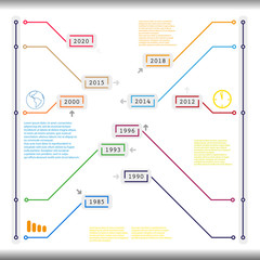 info graphic timeline vector template