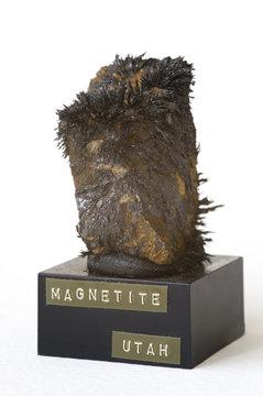 Magnetite from Utah, USA. 5cm high.
