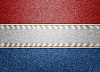 Netherlands denim flag