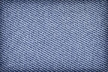 Blue Cotton Denim Fabric Texture Sample