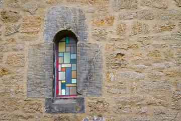 buntes Glasfenster