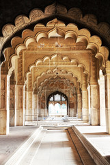 Keuken foto achterwand India Architectural of Lal Qila - Red Fort in Delhi, India, Asia