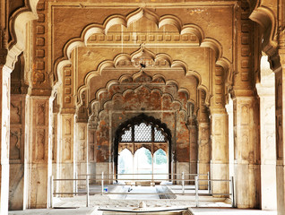 Foto auf Leinwand Befestigung Architectural of Lal Qila - Red Fort in Delhi, India, Asia