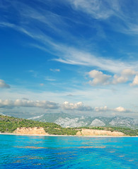 clouds over Cala Gonone