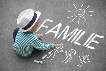 Kinderzeichnung - Familie