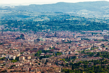 The panorama of Florence old city, Italy.  Florence, city of art