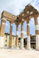 Ruins of the roman temple called Capitolium