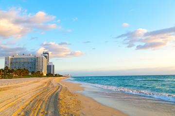 Wall Mural - Spring morning at Miami Beach, Florida, USA