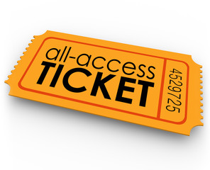 All Access Ticket for Rides Movie Show Concert Special Admission