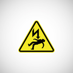 electrocution risk sign illustration