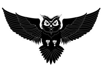 Wall Murals Owls cartoon Owl tattoo