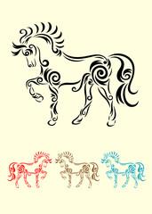 Horse art vector.