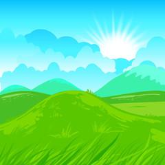 Rural scene illustration