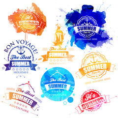 Vector Collection of Summer and Holidays Labels