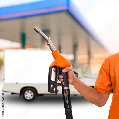 raw materials at a gas station