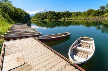 Boat in Lake Shoji