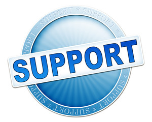 support button blue