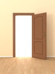 wall with opened door