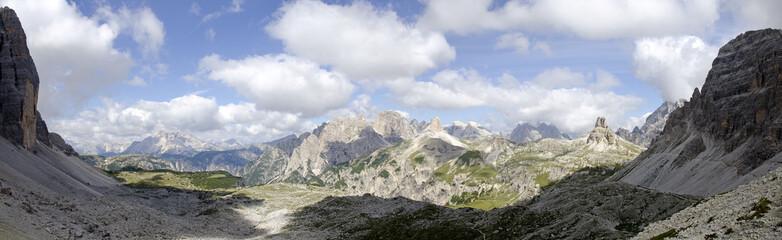 Panorama der Sextener Dolomiten