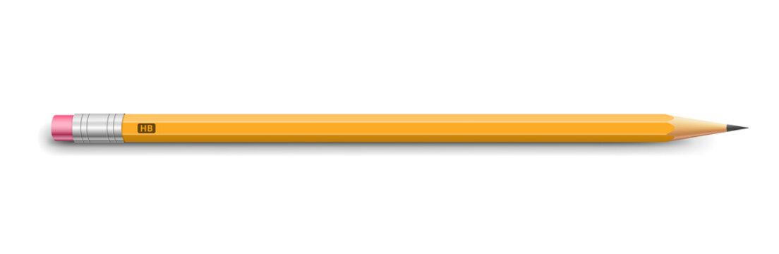 Pencil on white