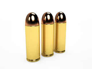 Cartridges, isolated on white