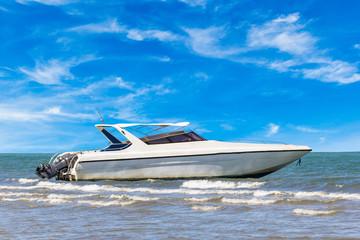 Motorboat on daylight