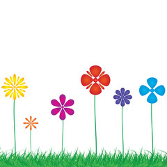 Background with a colorful  flowers .