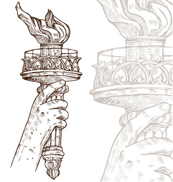 statue of liberty with torch