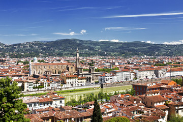 Panorama of Florence in Sunny day
