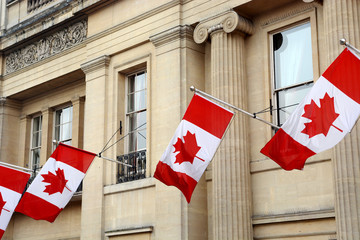 Canada flag at High commission building London