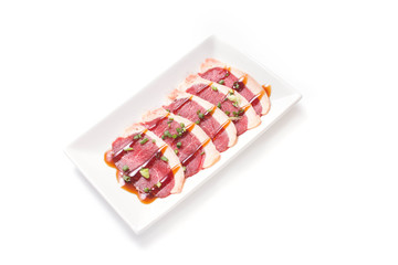 Freshness Japanese beef slice for barbecue