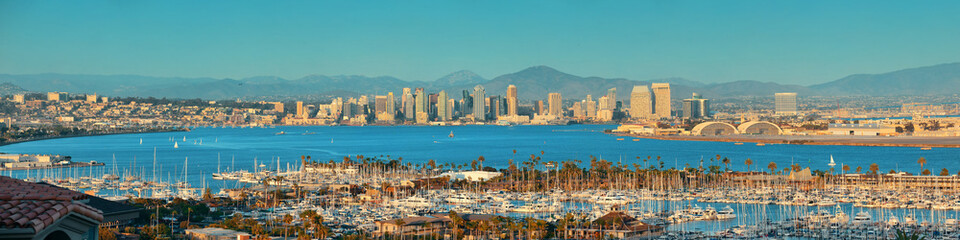 Fototapete - San Diego downtown