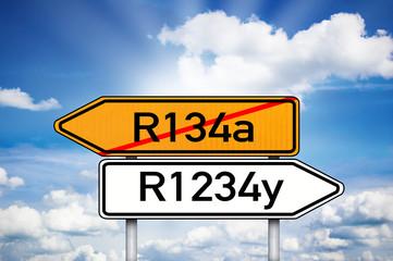 Wegweise rmit R134a und R1234y
