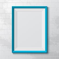 Realistic blue frame.
