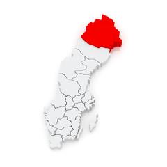 Map of Lulea. Sweden.