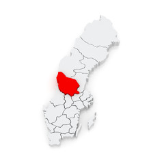 Map of Falun. Sweden.