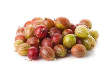 Closeup of green and red  gooseberry