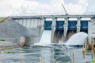 big reservoir dam
