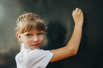 girl. school. chalkboard