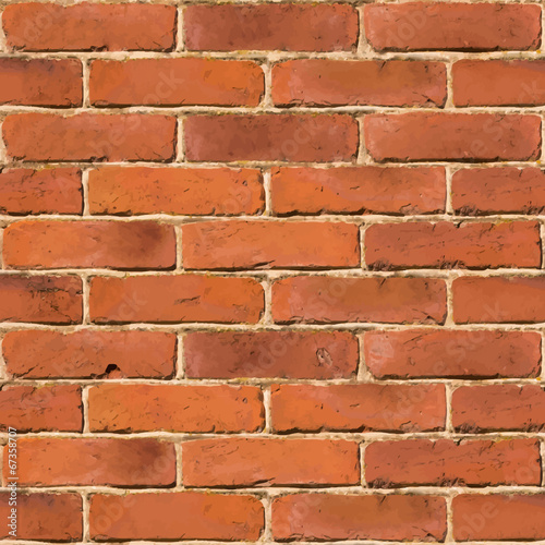 Quot Red Brick Wall Seamless Vector Texture Quot Stock Image And