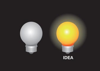 Layout design of 2 light bulbs
