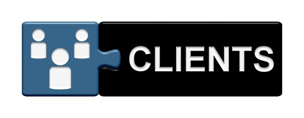Puzzle-Button blau schwarz: Clients