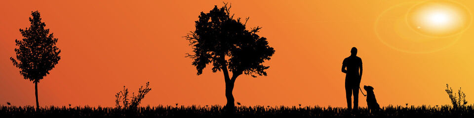 Vector silhouette of nature.