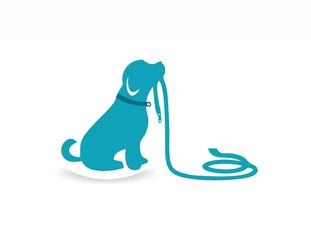 pet logo dog silhouette, farm animal symbol icon